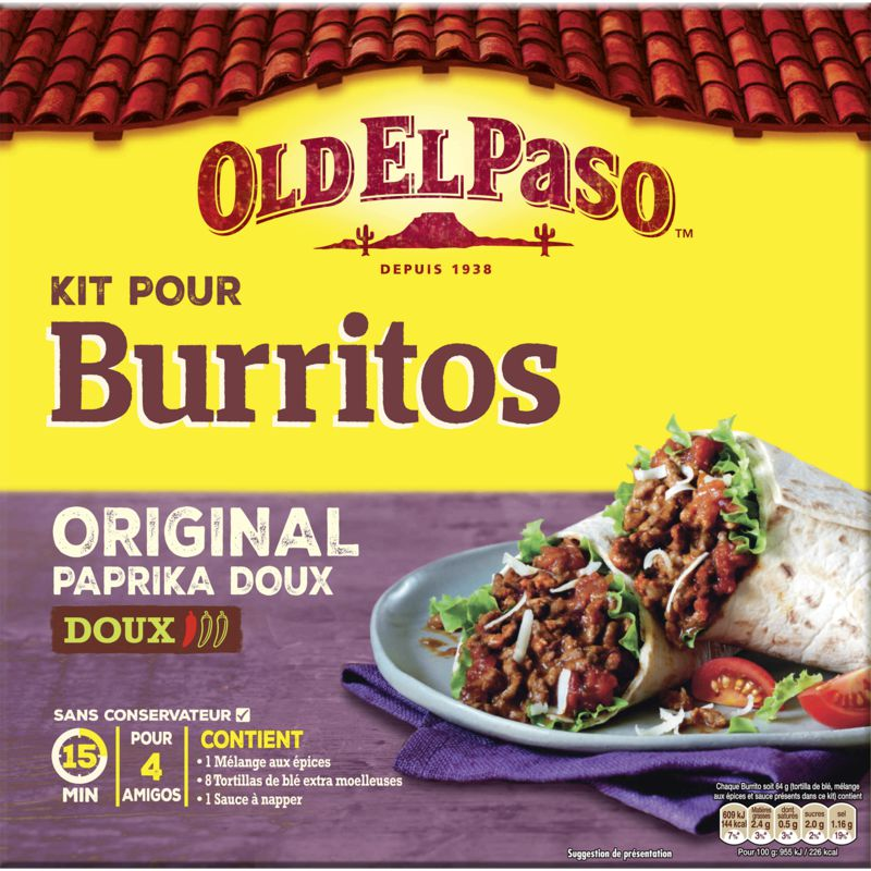 Kit Burrito Original Oldelpaso