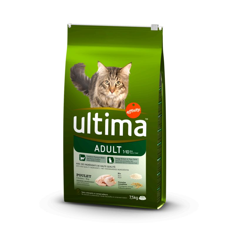 Ultima Chat Adult Poulet 7,5kg