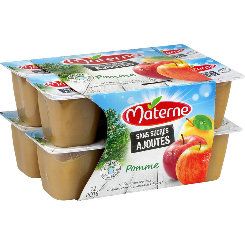 Compote Pomme Ssa 12x100g