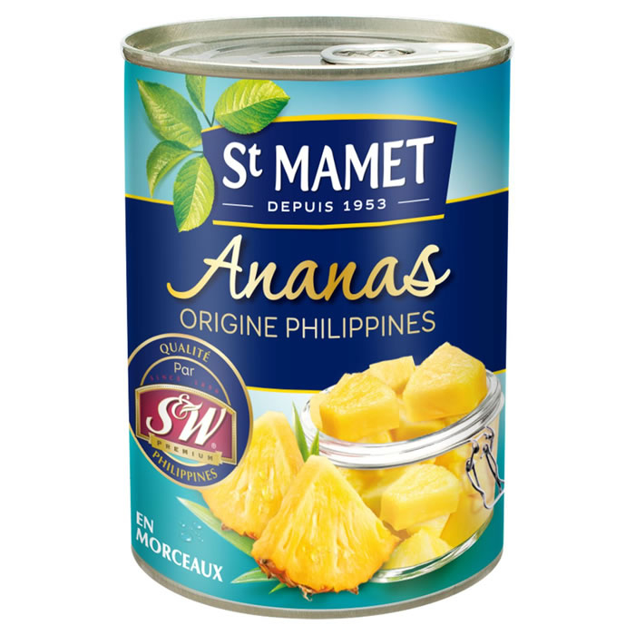 Ananas Morceaux 3/4 345 G