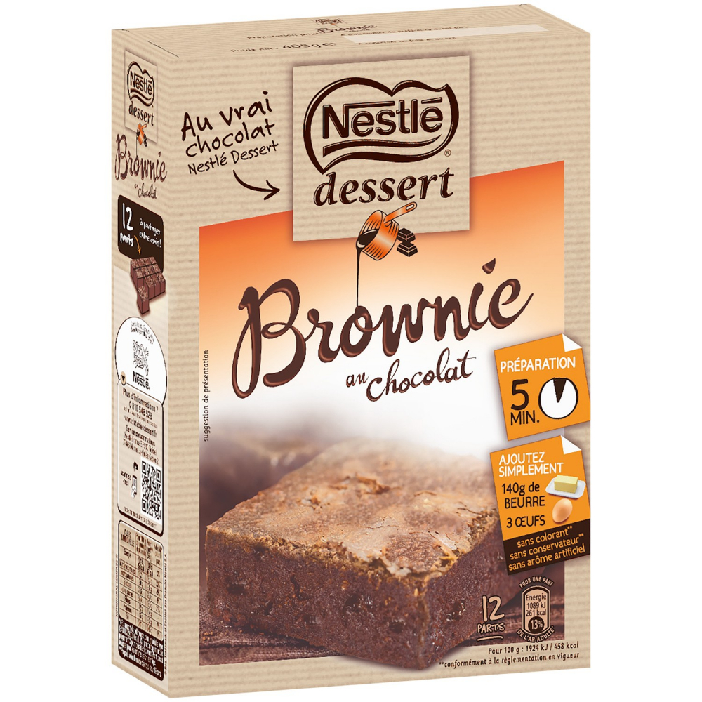Nestle Prep.gateau Brownie 405