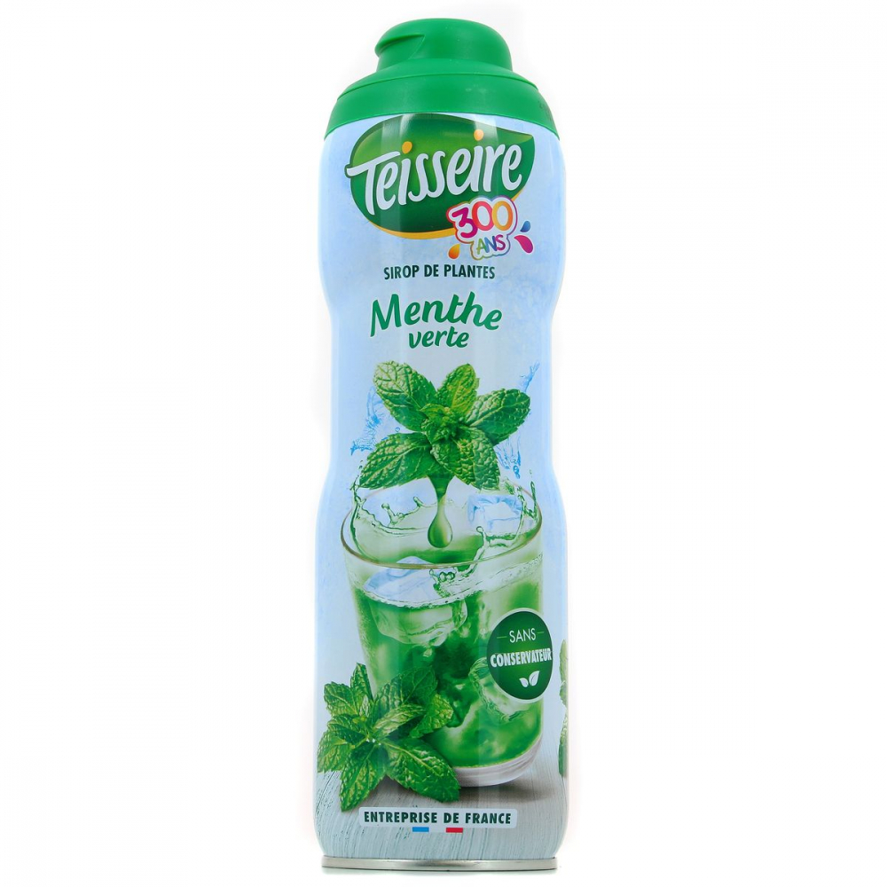 Sirop Menthe Ver.teisseire 60c