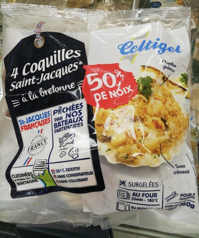 4 Coquilles St-jacques 50% 360